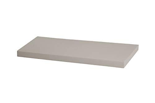 Kallax Regal Sitzauflage 76 x 39 x 4 cm Sitzpolster Sitzbank-Auflage Sitzkissen/Auflage für Sideboard als Sitzbank/unempfindlicher Bezug/Farbe HELLGRAU GRAU
