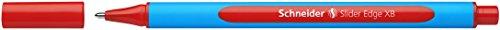 Schneider Schreibgeräte Kugelschreiber Slider Edge, Kappenmodell, XB, rot, Schaftfarbe: cyan-rot