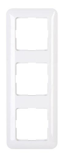 Kopp 405202005 Abdeckrahmen 3-fach Schalterprogramm Cadiz in Farbe arktis-weiß