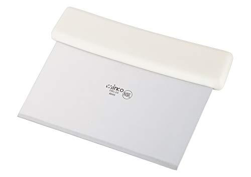 Winco, Teigschaber mit Kunststoffgriff und Edelstahlklinge, 15,2 x 9,1 cm, Weiß