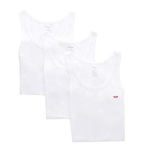 Diesel Johnny - Pack de 3 camisetas sin mangas para hombre - Blanco - Large