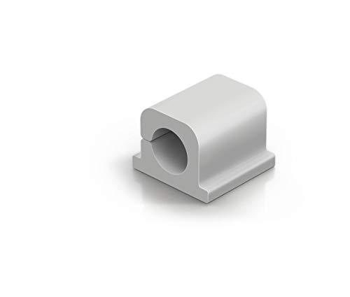Durable 504210 Kabel Klemmen Cavoline Clip Pro 1 (selbstklebend für 1 Netzkabel, Ø 10 mm) 6 Stück, grau