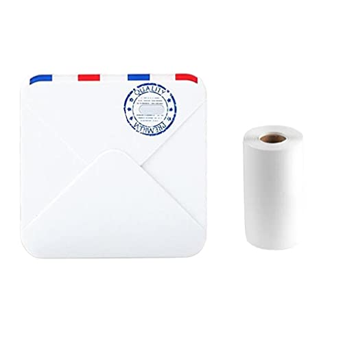 Mini Printer M02S Portable Thermal Photo Printer with 3 Paper Sizes for Phone Tablet White
