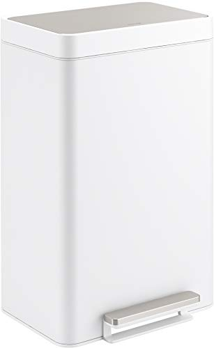 Kohler K-20956-STW Dual Compartment Step Trash Can, Liner, White Stainless