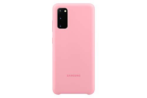 Samsung Silicone Smartphone Cover EF-PG980 für Galaxy S20 | S20 5G Handy-Hülle, Silikon, Schutz Hülle, stoßfest, dünn & griffig, pink