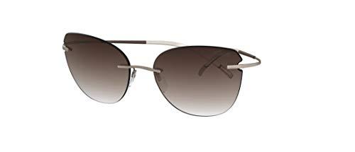 Silhouette Gafas de Sol TMA - THE ICON 8175 Gold/Brown Shaded talla única mujer