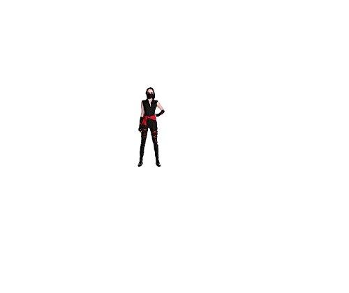 GGTBOUTIQUE Top Totaal vrouwen Cool Zwart Ninja Kostuum Party Halloween