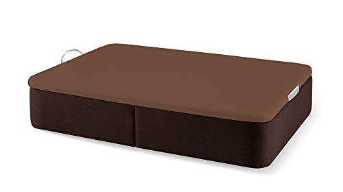 Naturconfort Canapé Abatible Tapizado Gran Capacidad Tapa 3D Chocolate Low Cost Chocolate 150x180cm Envio y Montaje Gratis