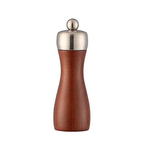 Molinillo Para El Hogar, Molinillo De Pimienta De Sal Manual De Acero Inoxidable 304, Botella De Molienda De Pimienta De Madera, Para Pimienta, Comino, Sésamo-Medium