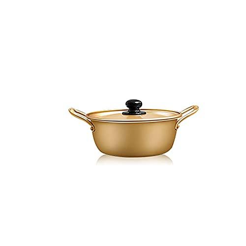 WangchngqingW Bowls, Ramen Cooking Pot, Lightweight Material, Binaural Design, Rivets Connected Handle, For Home Kitchen Dinner Party Binaural Ramen Bowl