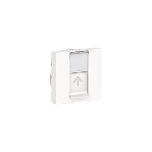 Unica - Toma RJ45 simple (cat 6A, FTP, 2 mod, cat 6A, color blanco