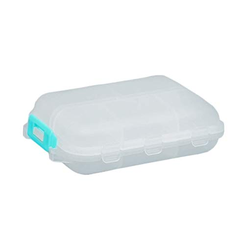 Travel Convenient Medicine Pill Box 12 Grids Pills Dispenser Pill Organizer Tablet Pillbox Case Container Drug Divider (Color : White)