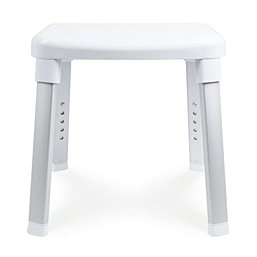 Weinberger Dusch- und Bad-Hocker/ideal für Senioren/Für's Badezimmer/Farbe: Weiß/Modell: 43908, normal