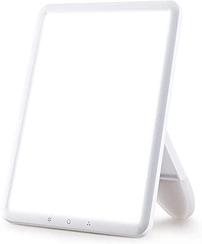 VIPEX Light Therapy Lamp Ultra-Thin 10000 Lux with Adjustable Brightness Levels, Therapy Light with 30 Minutes Timer and Rotatable Stand for a Happy Home/Office/Travelling