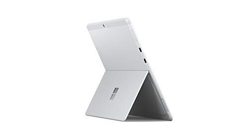 Microsoft Surface Pro X Ordinateur Portable (Windows 10, Ecran Tactile 13', Processeur Microsoft SQ2, 16 Go RAM, 512 Go SSD, 4G+LTE, Platine) PC Hybride, Ultrafin et toujours Connecté
