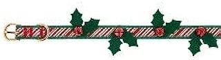 Merry & Bright Holly Bells Buckle Dog Collar~Medium~
