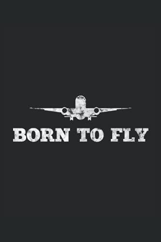 geboren zum fliegen Flugzeug Pilot Geschenkidee
