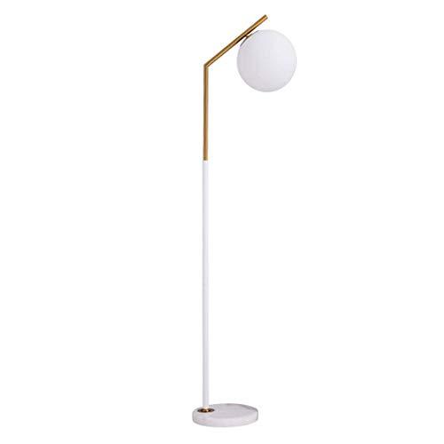 DONGYANG-Lámparas- * Lámpara de pie - Bola de vidrio láctea y lámpara de piso de la superficie de latón para la sala de estar de la sala de estar lámpara de la lámpara de la lámpara del piso (color: a