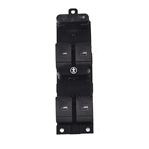 YFQH Interruptor principal para panel de ventana, ajuste a presión para VW Passat Golf Jetta MK4 B5 1999 2000 2001 2002 2003 2004 (color: blanco)
