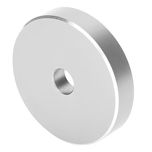 Adattatore per giradischi in alluminio, durata prolungata Adattatore per giradischi per dischi durevoli Ampia compatibilità Stabile per l'ufficio per la maggior parte dei dischi con fori(D'argento)
