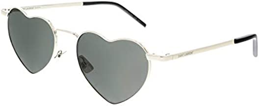 Saint Laurent SL 301 Loulou Shiny Silver/Grey Solid One Size