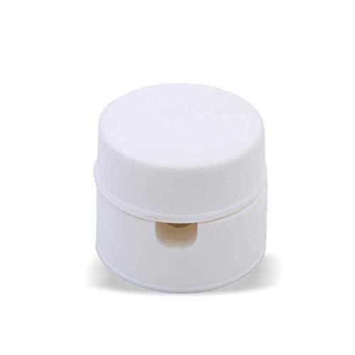 Lampen, Lampenkabel Deckenverteilernippel Distanz-Aufhänger Affenschaukel Kunststoff Ø30 Höhe 25mm Kabelführung Lampen Distanz Aufhänger (Weiß)