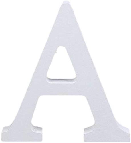 Cosanter 1x Alfabeto Inglés Moderno 26 Letras Blanco Madera Casa Fiesta Decoración de la Boda de Tiro de Alta 8cm(A)
