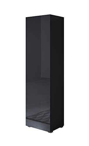 muebles bonitos Armario Modelo Luke V4 (40x167cm) Color Negro con Patas estándar