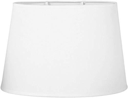 wkwk Lámpara de Pantalla Ovalada de Lino Pantalla Blanca,Pantalla de Mesa/Piso cónica Moderna de Gran tamaño,Tratamiento Superficial de Tela Blanca