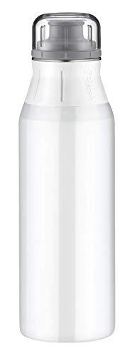 alfi Trinkflasche Edelstahl 900ml, elementBottle Pure weiß, 5357.140.090 Wasserflasche auslaufsicher, spülmaschinenfest, BPA-Frei für Schule, Sport, Stadtbummel, Freizeit