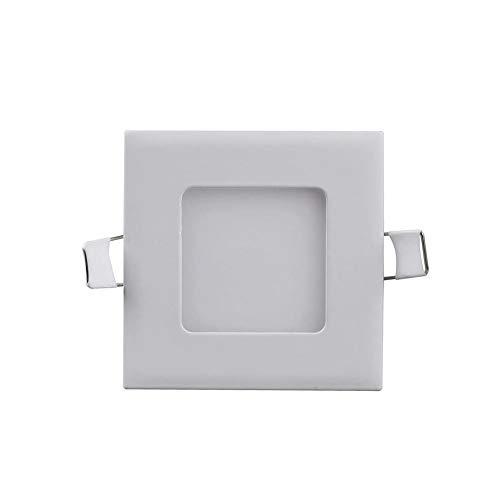 Ledpaneel 3 W lamp, LED-paneel plafondlamp, warmwit 3000 Kelvin, kleine vierkant, 2 stuks