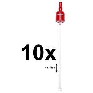 Preisvergleich Produktbild Grand Marnier Stirrer Rührstab in rot für Cocktails Bar - 10er Set
