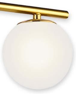 Brushed Brass Milk White Globe Glass Shade (Brass)