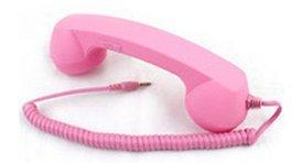 iPhone ipad 用 受話器 !! レトロ で おもしろ 便利 スマホ グッズ ピンク色