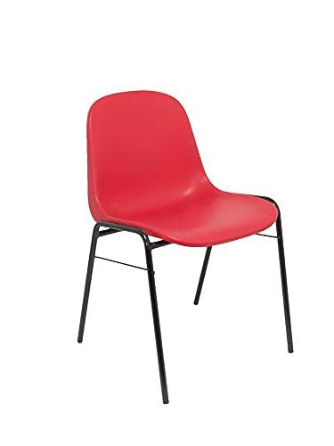 PIQUERAS Y CRESPO 423Rj zestaw biurowy 4 krzesła, kolor czerwony