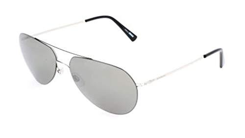 Montblanc Mont Blanc Sunglasses Mb595S 16A-60-15-145 Gafas de sol, Plateado (Silber), 60 para Hombre