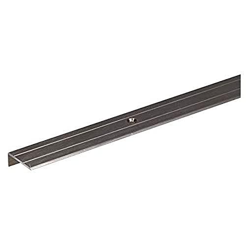 GAH-ALBERTS 490157 Perfil de protección para Borde de escalón, Acero Inoxidable, 1000 x 24,5 x 10 mm
