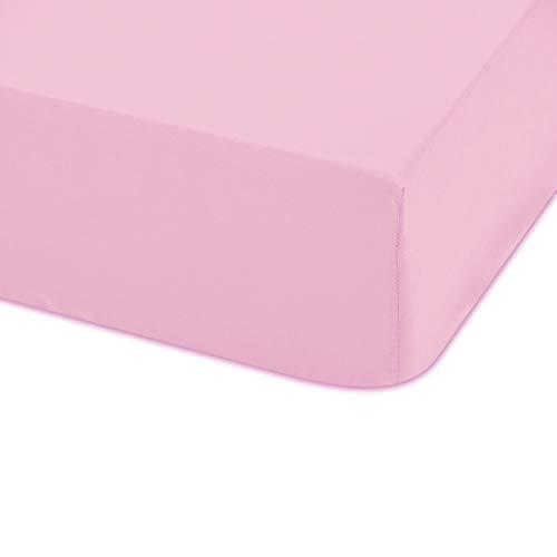 Bajera ajustable cuna color rosa