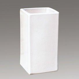 98619740 Pot « Linum Blanc » rectangulaire en grès blanc