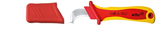 Wiha Abmantelungsmesser Hakenklinge mit Gleitschuh für Rundkabel in Blister (36053) 200 mm