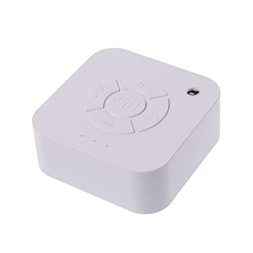 Smart Infant Sleep Instrument USB Recargable de Apagado Máquina de Sonido para Dormir para la relajación para Dormir Bebé Adulto Oficina Viajes (Color : White)