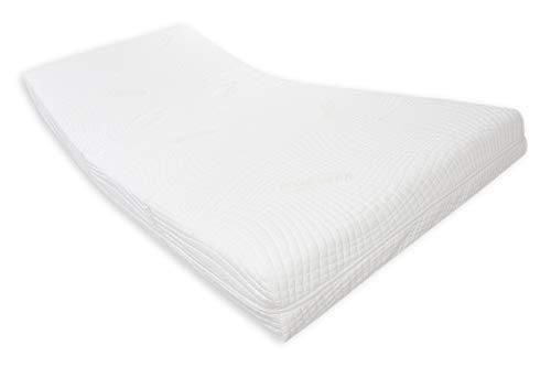 Dibapur® ORTHOMAß Soft: Orthopädische 9 Zonen Kaltschaummatratze nach Maß - (Bis B 120 x bis L 200 cm) Aloe Vera Bezug (EC) ca. 25 Hoch Sondergröße