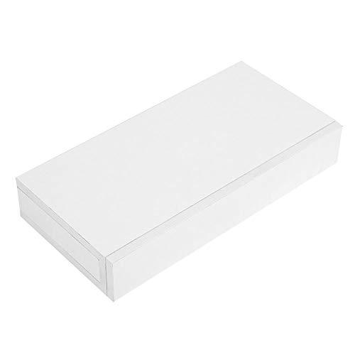 EBTOOLS Drijvende Planken, Wandplank met Lade Drijvende Display Plank MDF Wit Bedzijde Decoratieve Ophangen met Wandplank Boekenkast Sieradenhouder Sleutels CD DVD Speelgoed
