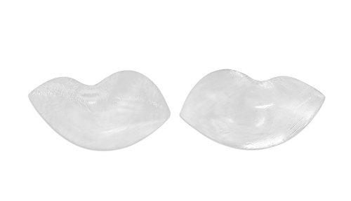 Sodacoda - 180g/par -Insertos de silicona suave de los reforzadores del pecho para los sujetadores trajes de baño y bikinis - hendidura natural adecuada para A, B, C y D Copas - Clear
