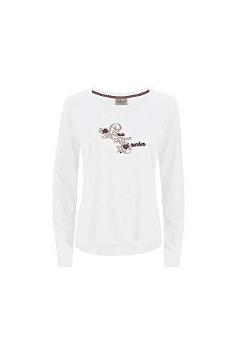 Luis Trenker W Carla Weiß, Damen Langarm-Shirt, Größe XL - Farbe Weiß