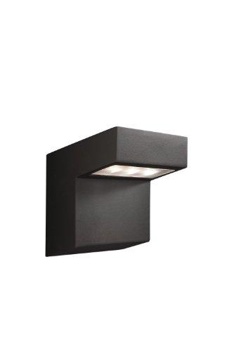 Massive Outdoor LED-Wandaußenleuchte Gotha, schwarz