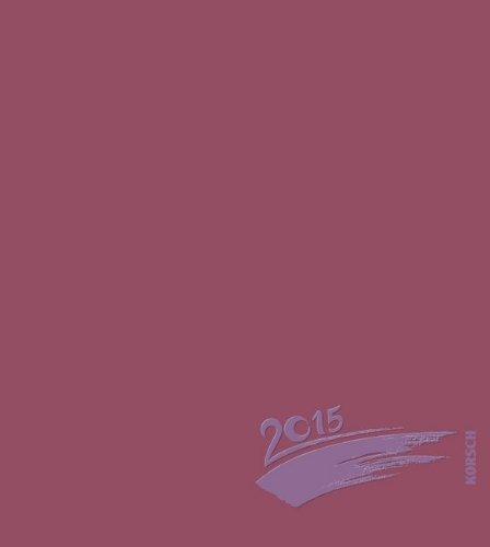 Foto-Malen-Basteln bordeaux mit Folienprägung 2015: Kalender zum Selbstgestalten