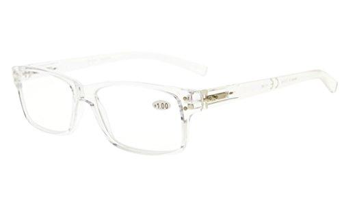 Eyekepper Primavera bisagras Vintage lectura gafas hombres lectores(Transparente Marco,+2.75)