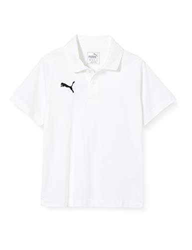 PUMA Kinder Liga Casuals Polo Jr T-Shirt, Weiß (Puma White-Puma Black), 152