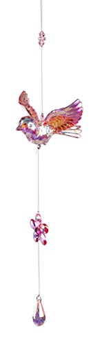 dekojohnson Edle Fenster-Deko Vogel Acryl-Hänger-Vogel Fensterschmuck Hängedeko Frühlingsdeko Acryl-Lüster-Deko rosa 46cm Sonnenfänger